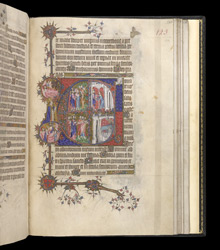 Historiated Initial To Compline With Scenes From The Life Of Christ, In The Egerton Bohun Psalter-Hours